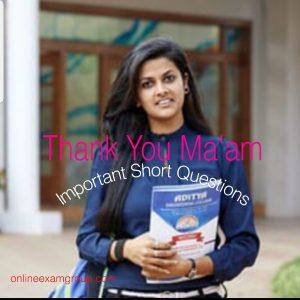 Thank You Ma'am