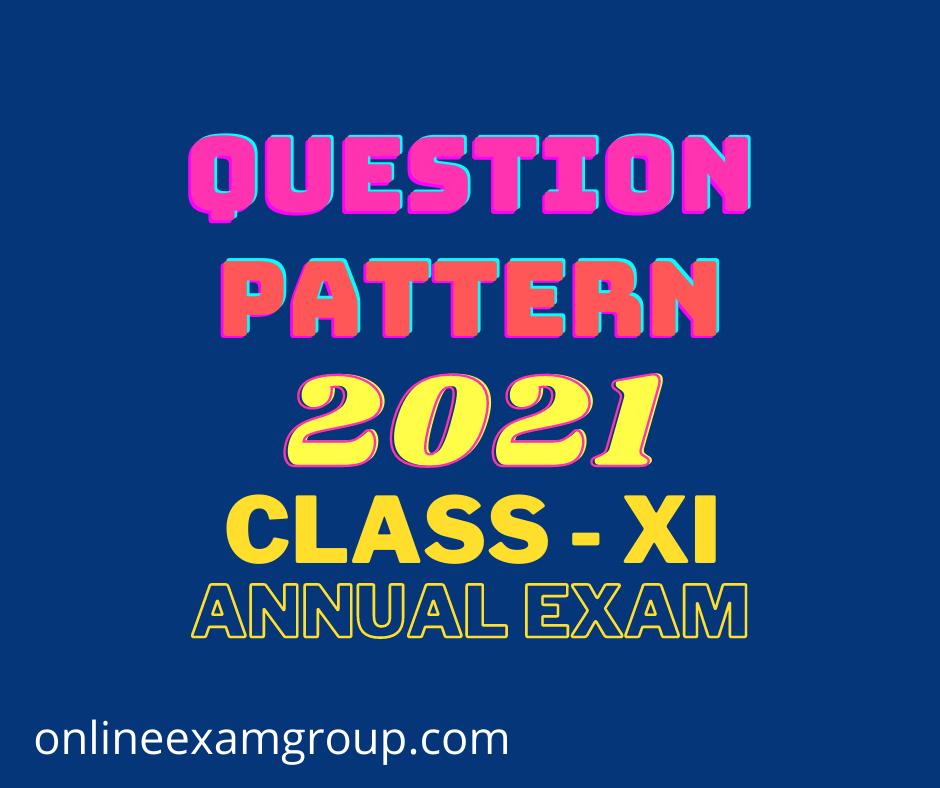 class xi 2021 annual exam question pattern, reduced syllabus
