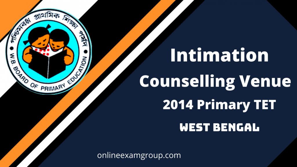 WB Primary Intimation for Counselling Venue