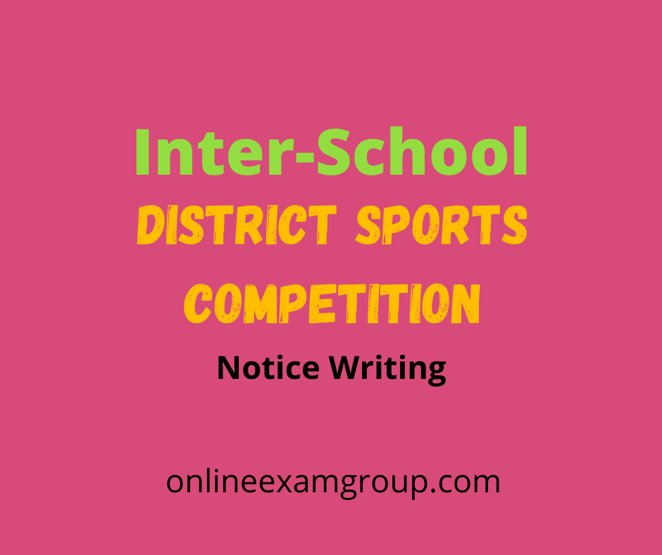 Inter school district sports competition