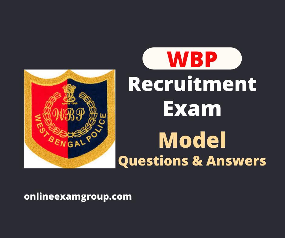 WBP Recruitment Exam
