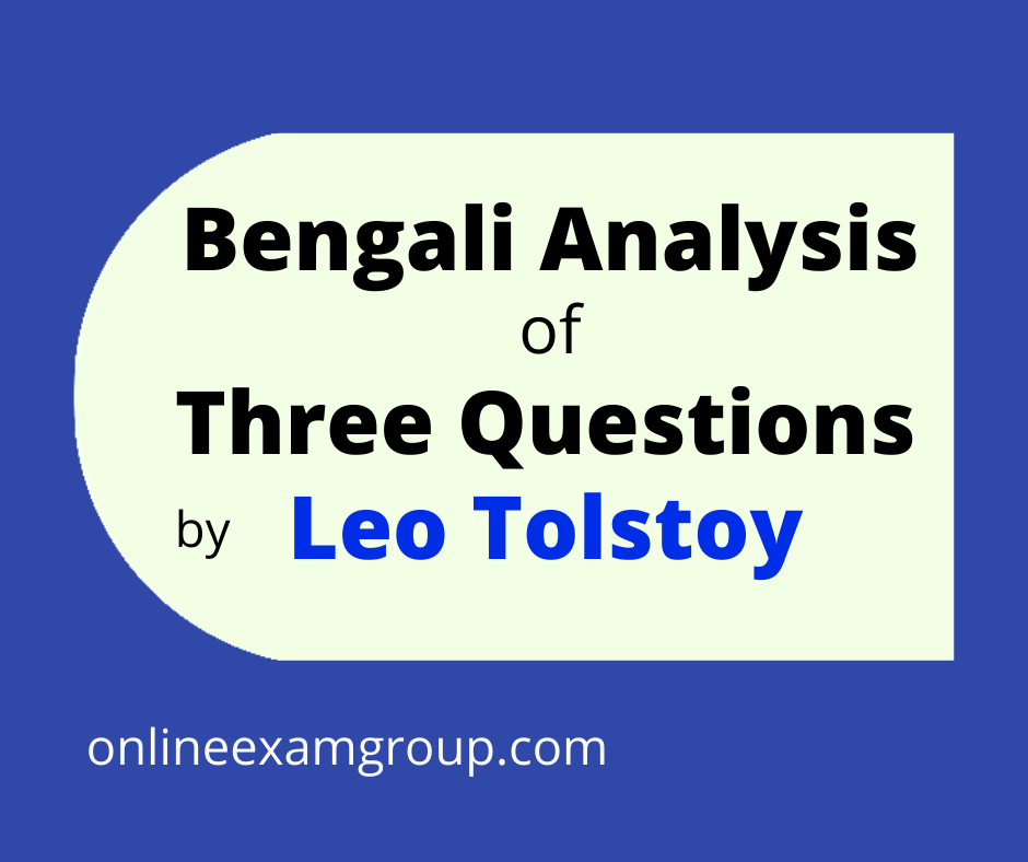 Three by Leo Tolstoy