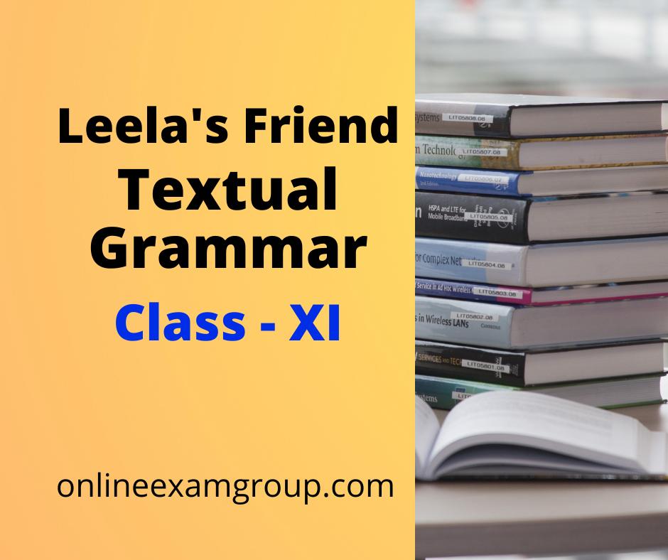 Grammar from Leela's Friend