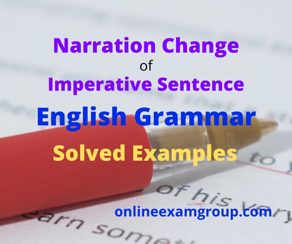 Imperative Sentence Narration Change