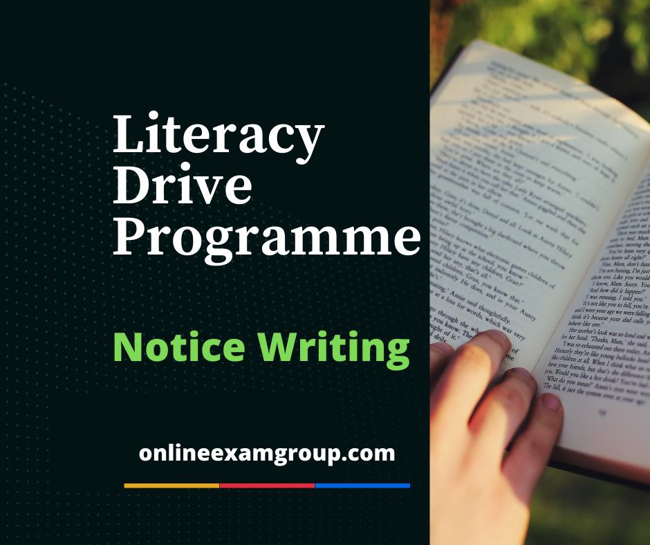 Literacy Drive Programme Notice Writing
